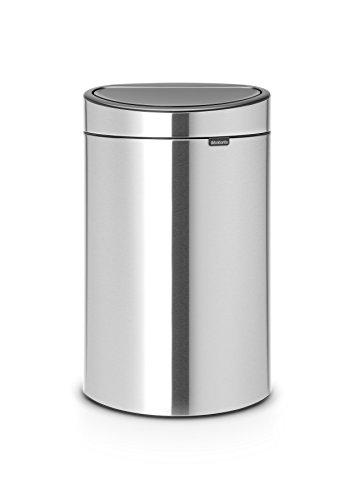 Brabantia Touch Bin New Recycle mit Zwei herausnehmbaren Kunststoffeinsätzen, Edelstahl, matt steel fpp, 10 L + 23 L