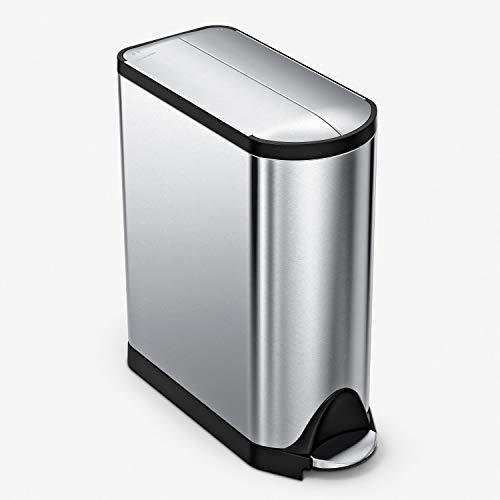 simplehuman, 40 Liter, schmetterling Recycler, gebürsteter Stahl, 10 Jahre Garantie