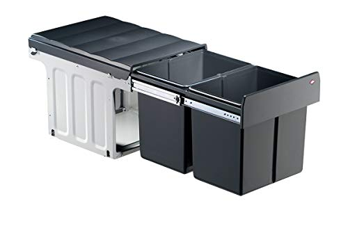 WESCO Profiline Double Master 40DT Abfallsammler Mülleimer 32L(2x16L) Vollauszug