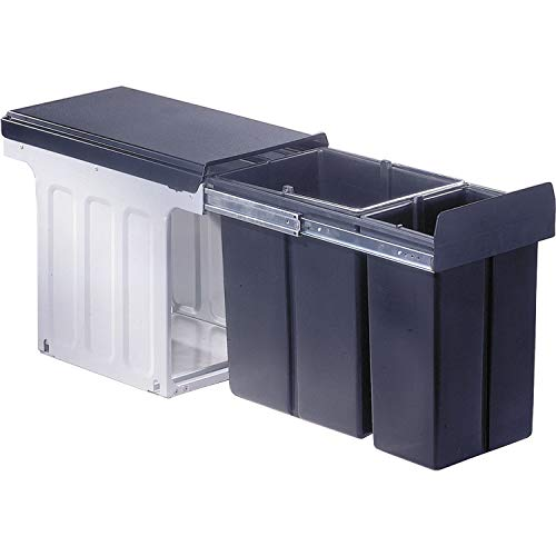 WESCO Profiline Bio-Double 30 DT Einbau-Abfallsammler, 1 x 20 / 1 x 10 L, 1 Stück, anthrazit,857621-11