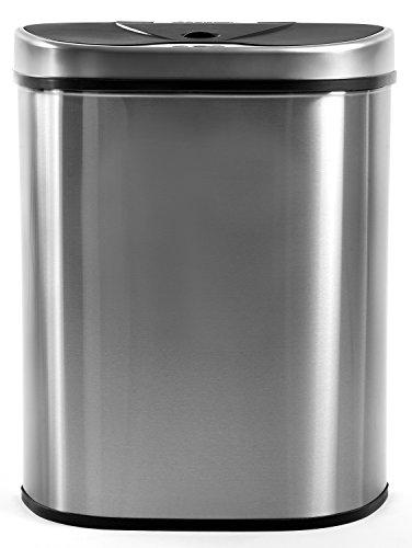 Homra Qubix 3-Fach Mülltrennsysteme Abfalleimer mit Sensor, 70 Liter, Hochwertiger Edelstahl, Automatische Mülltrenner Mülleimer mit Sensor