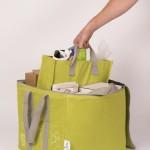 Recycling Tasche hellgrün